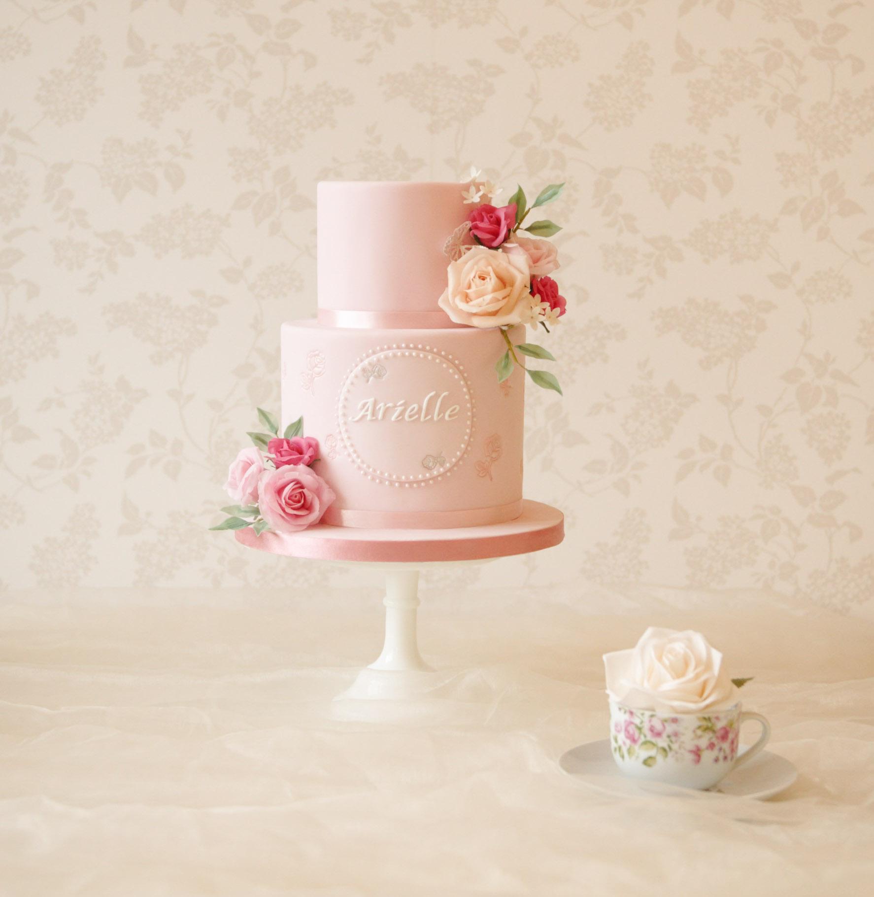 Awe Inspiring Luxury Celebration Cakes In Buckinghamshire The Rose Cake Parlour Personalised Birthday Cards Akebfashionlily Jamesorg
