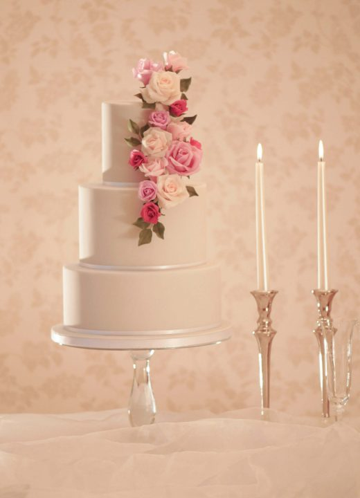 modern wedding cakes in northamptonshire grey wedding cake with rose cascade